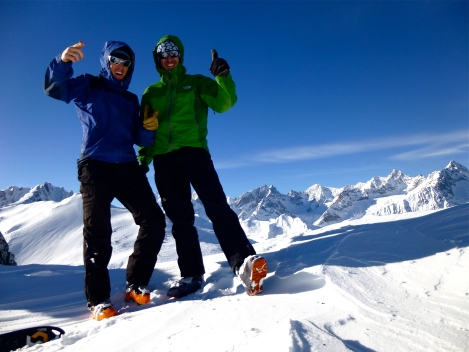 Olivier and me on top