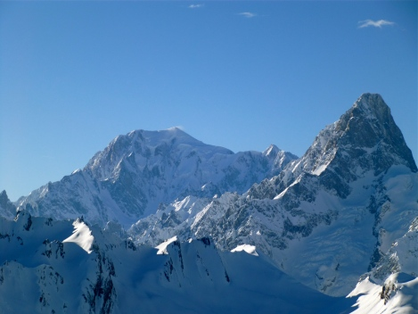 Envers du Mt. Blanc and the Grandes Jorasses