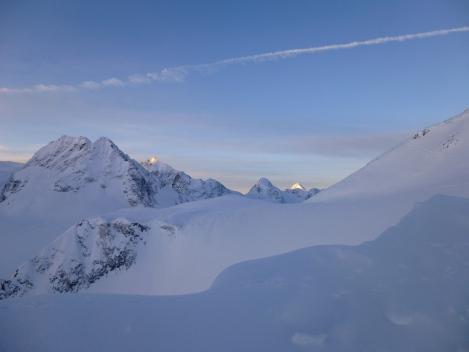 sunrise over the Swiss Valais