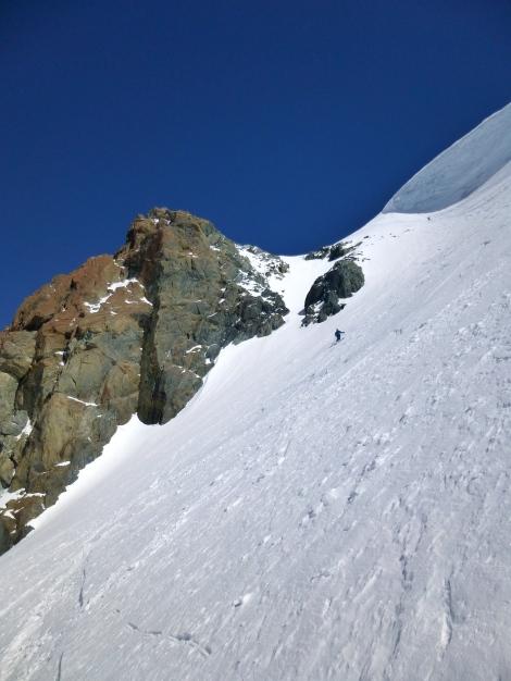 enjoying some classic Zermatt off-piste
