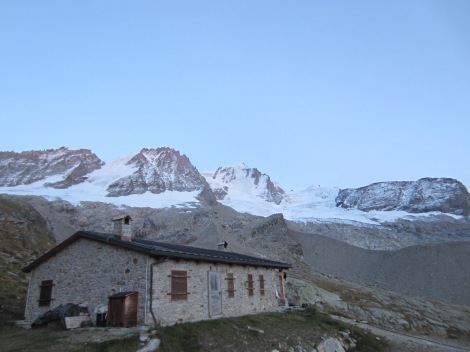 view from the well equipped winter hut