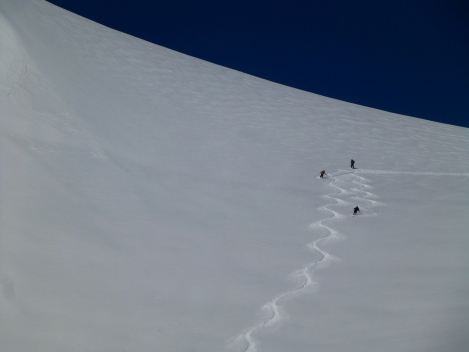 Fresh lines off the Aiguille du Midi was no rarity this week..