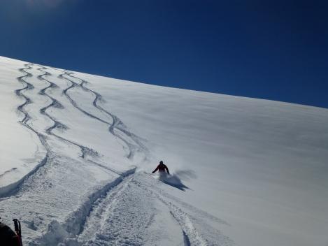 Pow on the glacier...