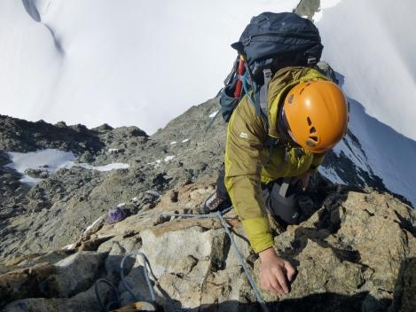 some good rock climbing on l'Eveque SW ridge